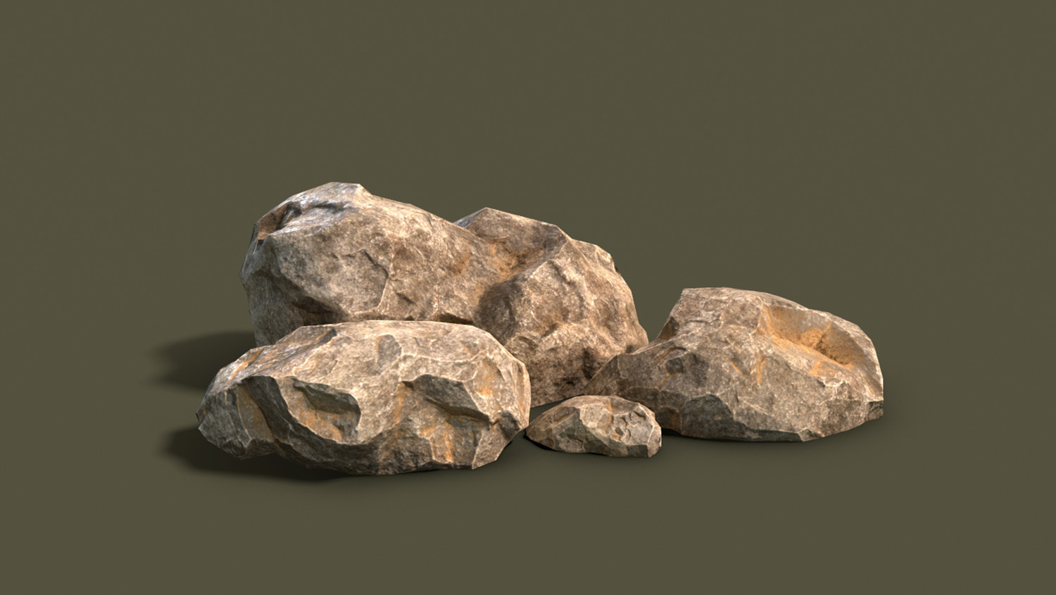 render of a collection of rocks