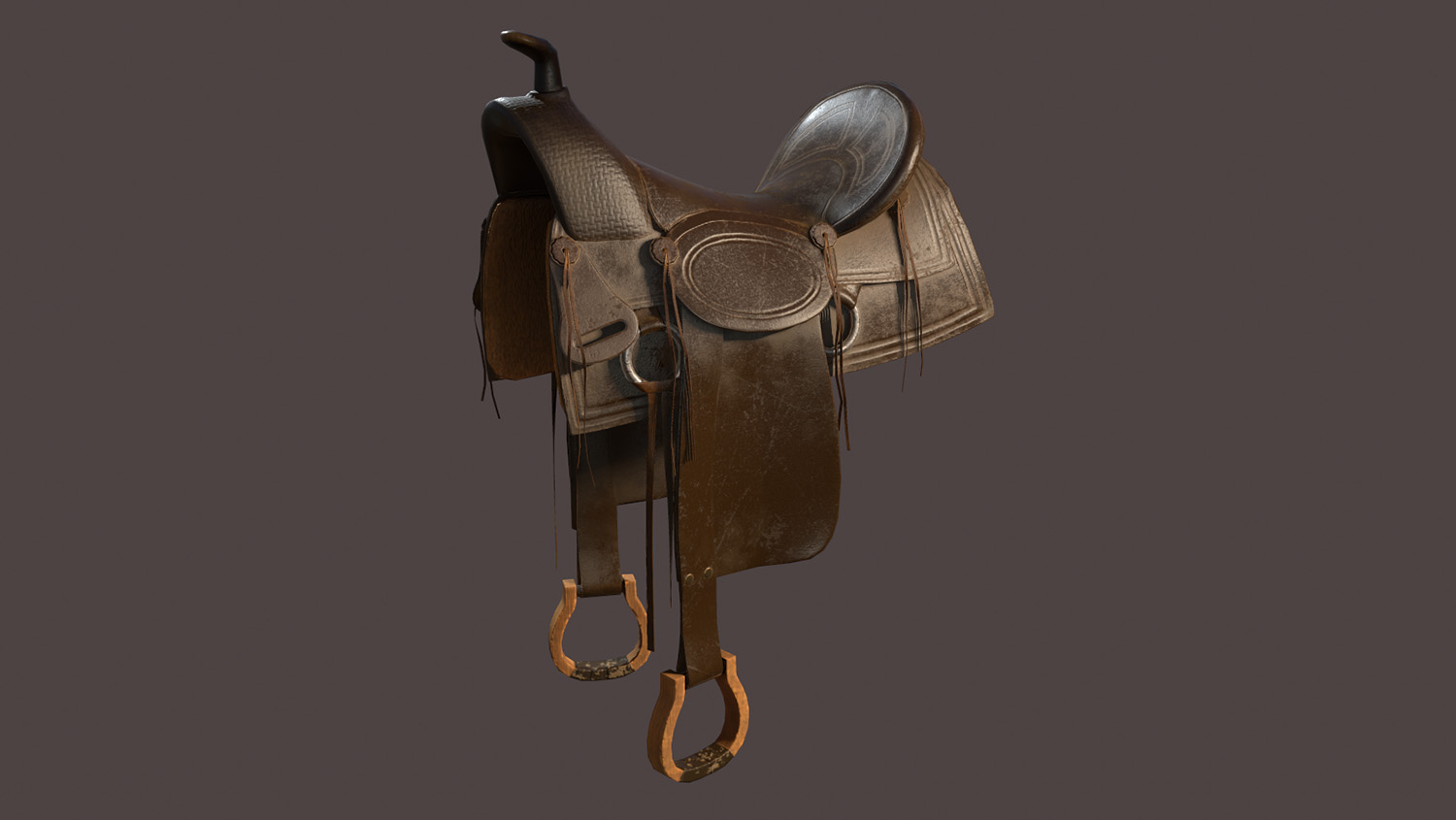 render of a saddle